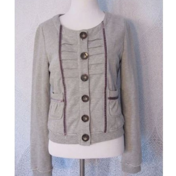 74adb02c58b Knitted Dove Jackets & Coats | Heather Gray Drummer Jacket Ls Blazer ...